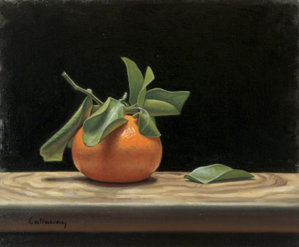Alex Callaway_Clementine with Leaves_Oil on Linen_10x12