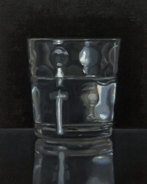 Alex Callaway_Glass Of Water_Oil on Linen_8x10