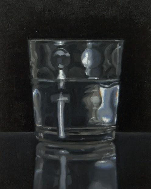 Alex Callaway_Glass Of Water_Oil on Linen_8x10