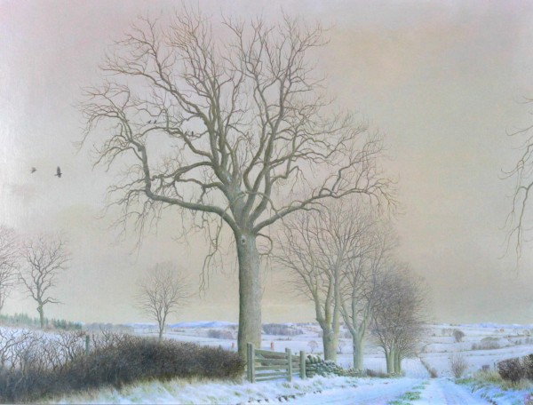 Alister Lindsay_Original_A Farm Road in Winter_Image 13x17