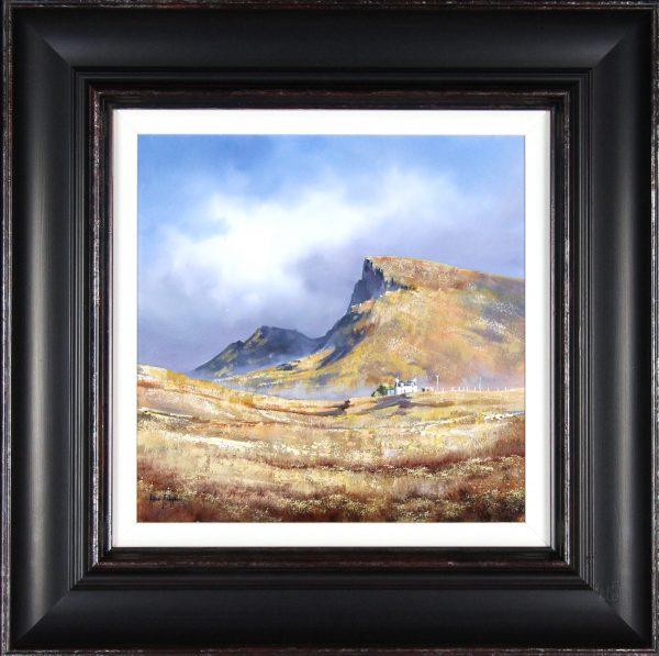 Allan Morgan_Oils_Skye Cottages_15.5x15.5_framed 26x26