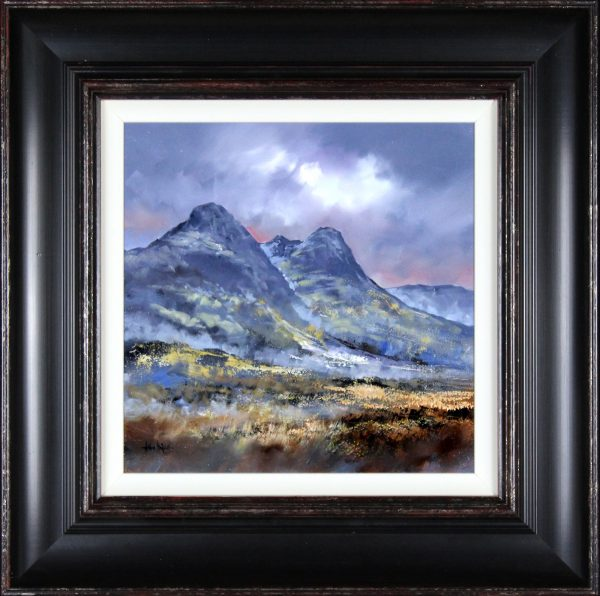 Allan Morgan_Oils_Soft Light, Glencoe_image 15.5x15.5_Framed 26x26