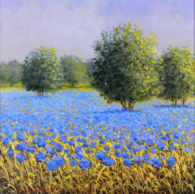 David Short_Orchard I_Original Oils_ Image 11.5x11.5