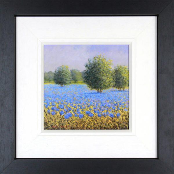 David Short_Orchard I_Original Oils_ Image 11.5x11.5_Framed 23x23 (2)