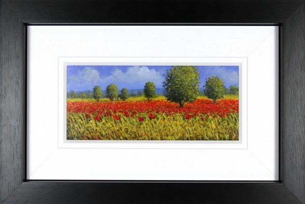David Short_Original_Poppy Field II_image 6.5x15_Framed 18x26.5
