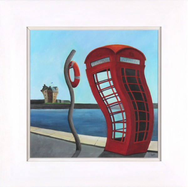 Gail Stirling Robertson_Ring, Ring Broughty Ferry_Original Acrylic_Image 11x11_Framed 16x16 (2)
