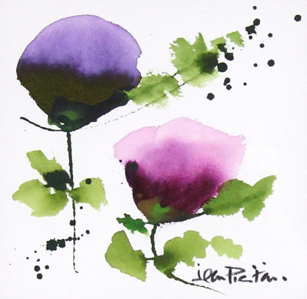 Jean Picton_Poppy Splash IV_Original Watercolour_Img 7 x 7