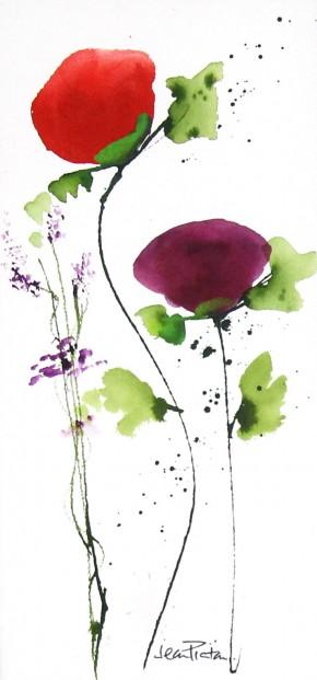 Jean Picton_Poppy Splash VIII_Original Watercolour_Img 14 x 7