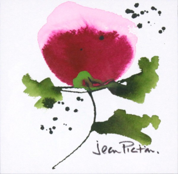 Jean Picton_Poppy Splash VI_Original Watercolour_Img 7 x 7