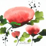 Jean Picton_Poppy Splash V_Original Watercolour_ Image 7x7