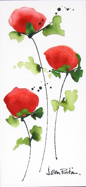 Jean Picton_Poppy Splash XII_Original Watercolour_Img 14 x 7