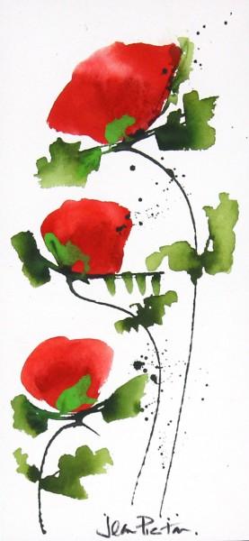 Jean Picton_Poppy Splash XI_Original Watercolour_Img 14 x 7