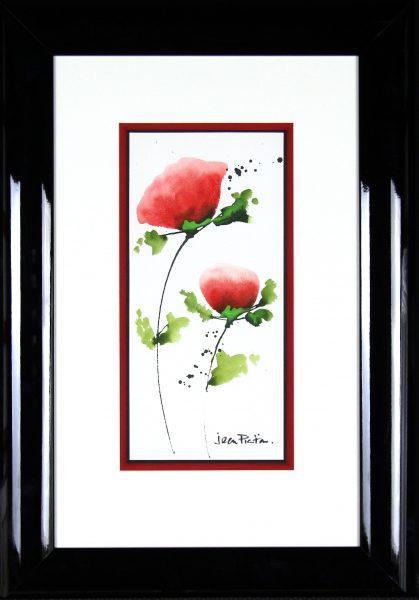 Jean Picton_Poppy Splash X_Original Watercolour_Fmd 26 x 18_Img 14 x 7