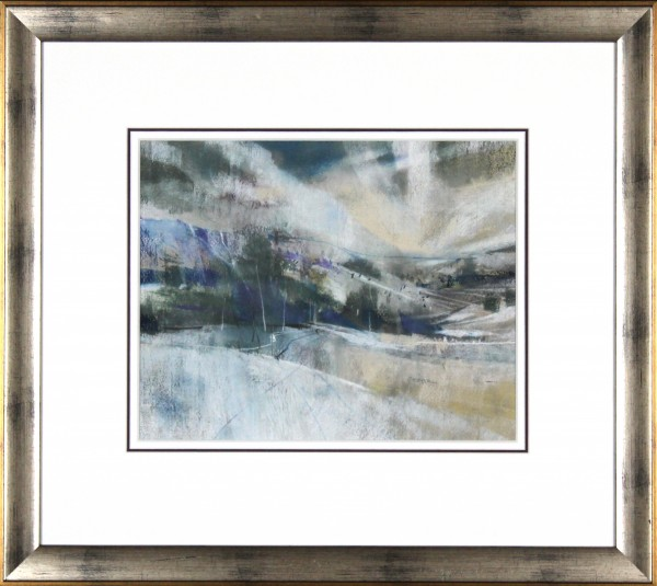 Oscar Goodall RSW_Original Pastels_ Snow and Sky_Image 10.25x12.75_ Frame 20 x 22.25 (4)