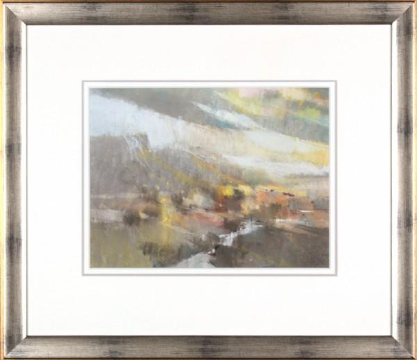 Oscar Goodall RSW_Original Pastels_ Strath_Image 9.75x12.75_ Frame 19.5 x 22.25