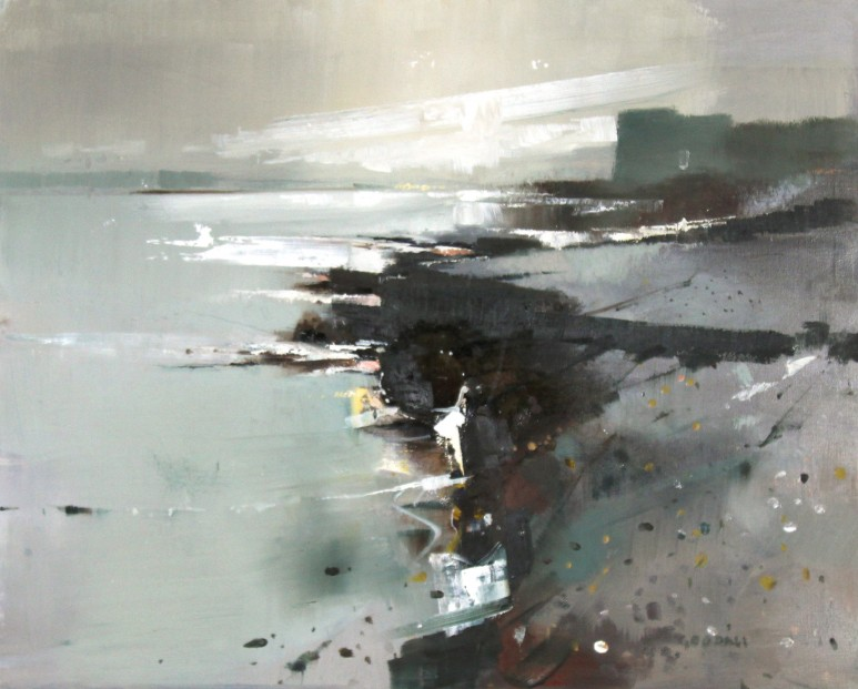 Oscar Goodall_Original_Island, Northumberland_Image  24x29.5_Framed 32x37.5 (2)
