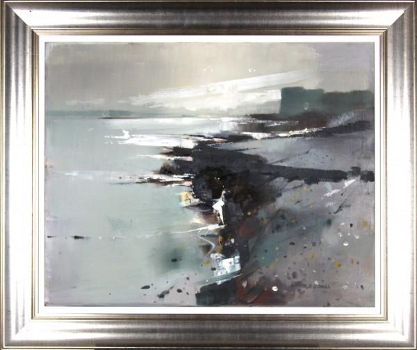 Oscar Goodall_Original_Island, Northumberland_Image  24x29.5_Framed 32x37.5