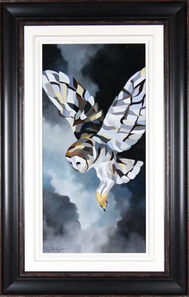 Simon Wright_The Swoop_Oils_Framed 50.5x32_Image 26 x 18_