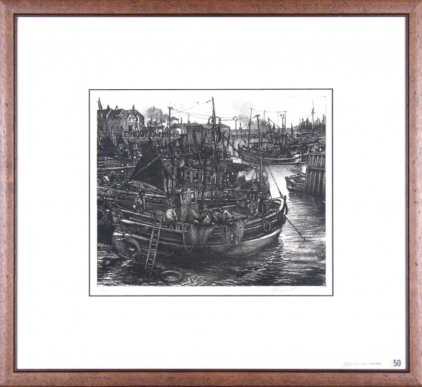William Peters Vannet_ Etching_ Low Tide, Arbroath _ Image 10.5x12.5_framed 20x22 (3)
