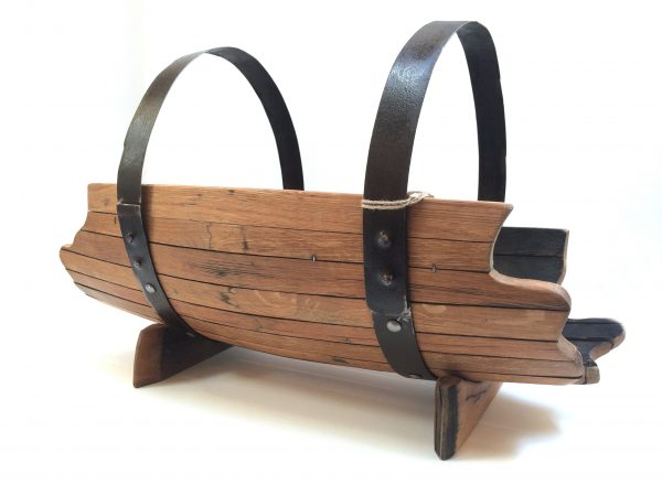 Darach Whisky Barrel Log Holder Large