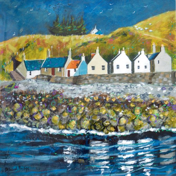 Deborah Phillips_Crovie Gables_Acrylic_18x18