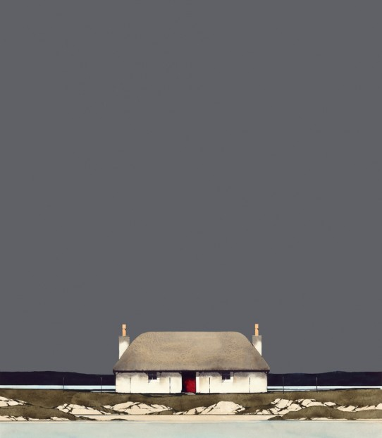 Ron Lawson_Hebridean Blackhouse_Image size 16x14 inches