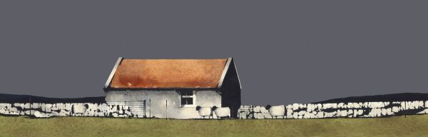 Ron Lawson_Old Farm Building, Islay_Image size 8x25 inches