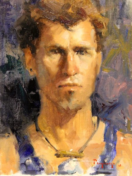 Stan Propenko_Original_Oils_Man With Necklace_Framed 14 x 17