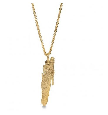 i love a lassie_ Bark Long Pendant_ 18ct gold vermeil