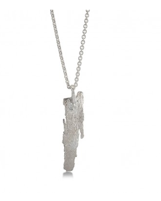 i love a lassie_ Bark Long Pendant_ Silver