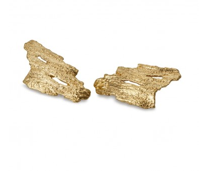 i love a lassie_ Bark Lrage Studs_18ct Gold Vermeil