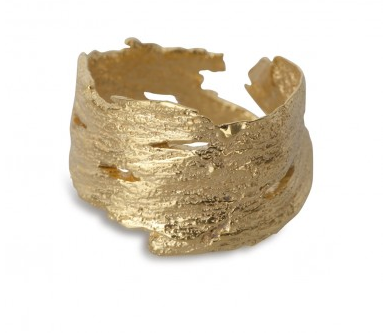 i love a lassie_ Bark Ring_18ct Gold Vermeil