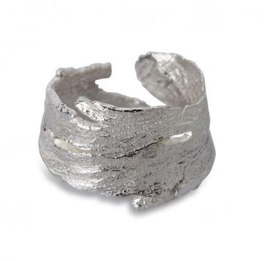 i love a lassie_ Bark Ring_Silver