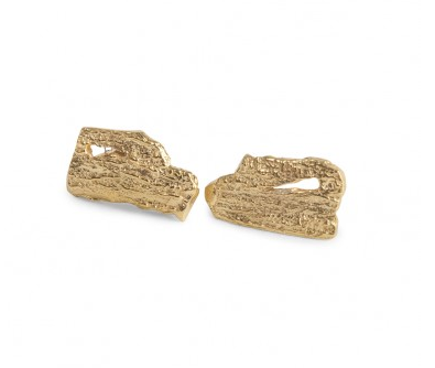 i love a lassie_ Bark Small Studs_18ct gold vermeil