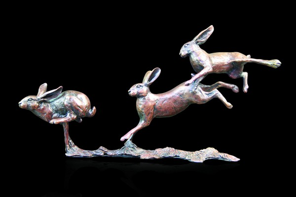 801 Small Hares Playing