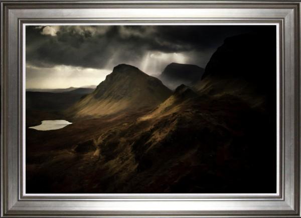 Alastriona Tomasco_Original Acrylic_Quiraing, Isle of Skye_Image 23.5x35.5_Framed 31x43