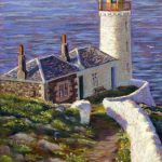 Gina Wright_Low Light, Isle Of May_Pastel_19x13.5