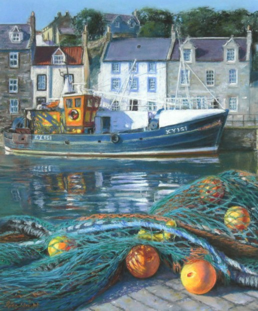 Gina Wright_SIgned Limited Edition Print_High Tide, Pittenweem_image 17x14