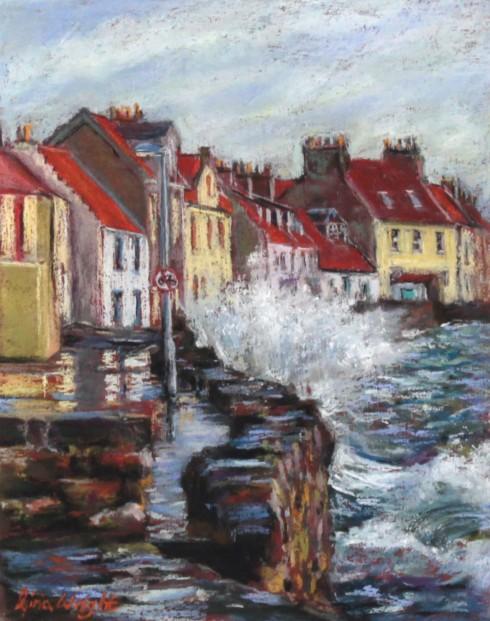 Gina Wright_SIgned Edition Print_High Tide Westshore Pittenweem_image 11.5x9