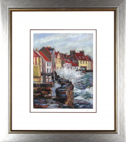 Gina Wright_SIgned Edition Print_High Tide Westshore Pittenweem_image 11.5x9_framed 21.5x19 (2)