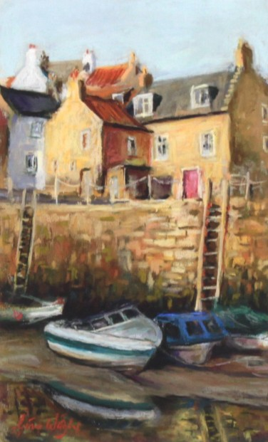 Gina Wright_SIgned Edition Print_Low Tide, Crail Harbour_image 11x6.5