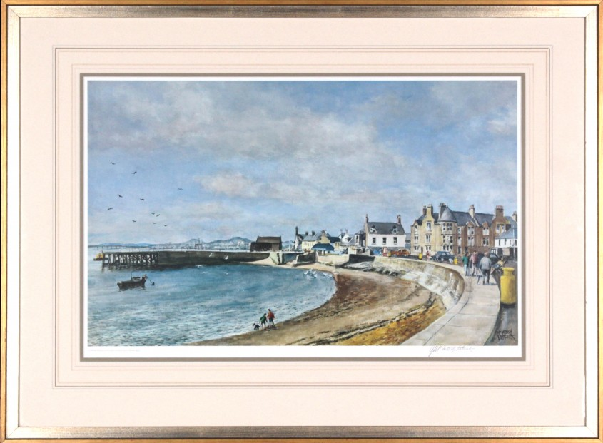 James MacIntosh Patrick_Signed Limited Edition Print_Title unknown (Beach Crescent)_image 15x24.5_framed 24.75x34.5 (2)