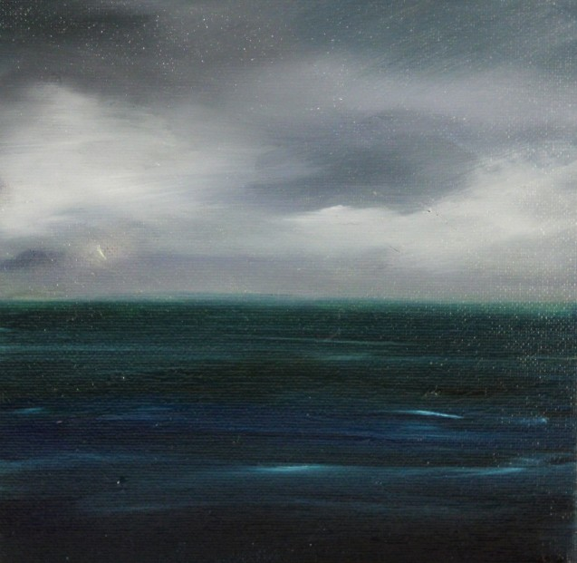 Kate Cunningham_Out to Sea I_Original Oils_ 3_8x8