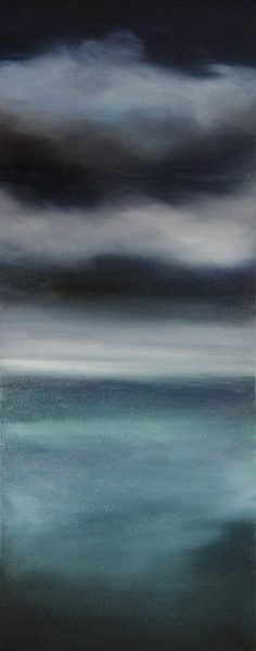 Kate Cunningham_Sky II_Original Oils_ 2 _19.75x8