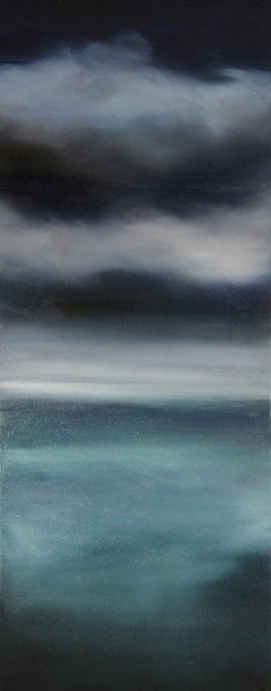 Kate Cunningham_Sky II_Original Oils_ 2 _19.75x8