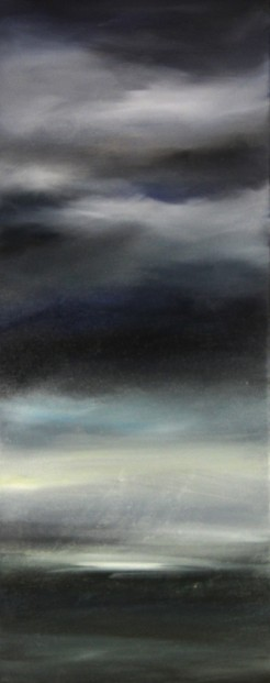 Kate Cunningham_Sky I_Original Oils_ 1 _19.75x8