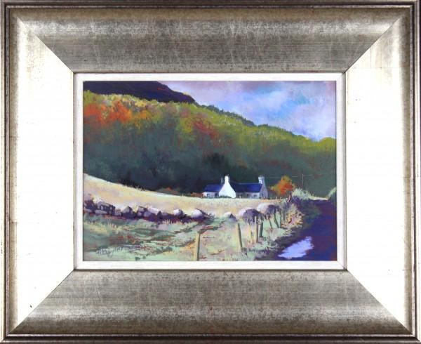 Margaret Evans_Original Pastel and Gouache_After The Rain Clova_image 9x13_Framed 17.5x21.5_