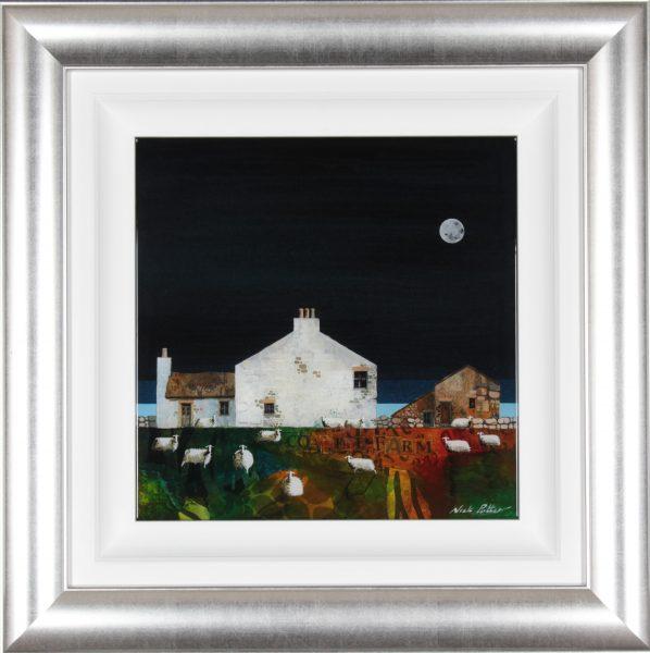 Nick Potter_Original_Coastal Farm II_image 15.5x15.5_Framed 26.5x26.5