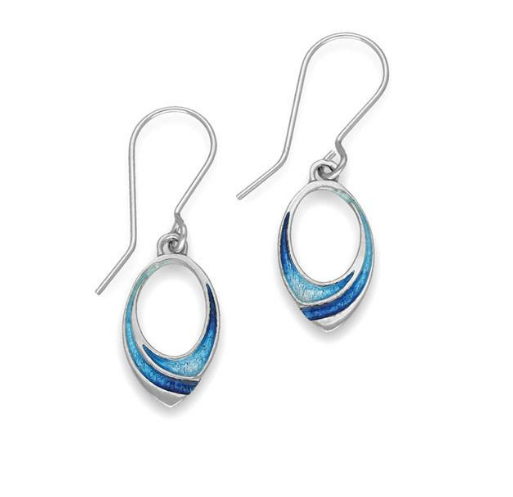 ORTAK silver drop earrings with enamel_waterfall_EE504_2.5