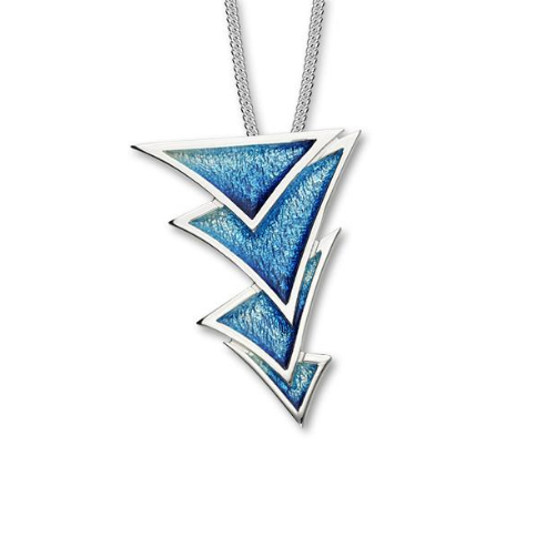 ORTAK silver pendant with enamel_waterfall_EP351.2.11